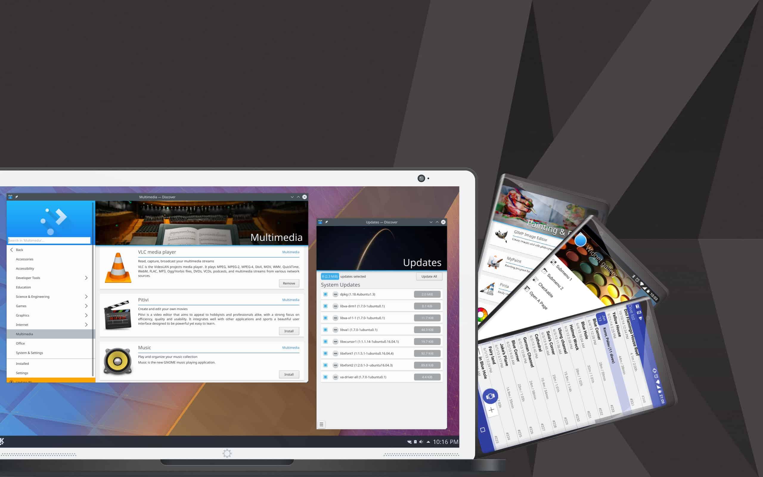 KDE Linux desktop environent