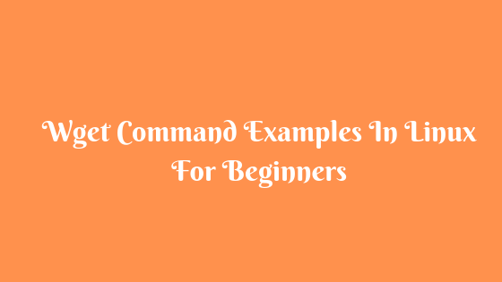 9 Wget Command Examples In Linux For Beginners
